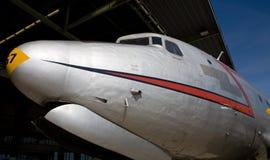 De neus van het vliegtuig Stock Foto