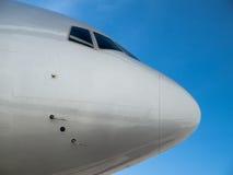 De neus van het vliegtuig stock foto's