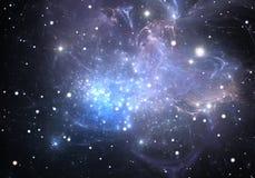 De nevel is een plaats waar de nieuwe sterren geboren zijn Royalty-vrije Stock Afbeeldingen