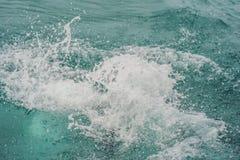 De nevel in het overzees na een mens dook royalty-vrije stock afbeelding