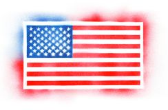 De nevel schilderde Amerikaanse vlag Stock Fotografie