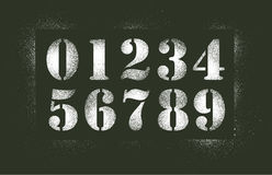 De nevel van de aantallenstencil stock illustratie