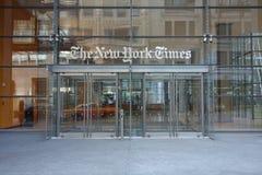 De New York Times-Bouw Stock Foto's