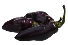 De Neyde chile peppers C. chinense, paths. Pimenta De Neyde chile peppers C. chinense, clipping paths Royalty Free Stock Images