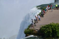 De Niagaradalingen, NY, overzien royalty-vrije stock afbeeldingen