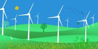 De niet Conventionele Groene Energie van de Energie Futuristische Duurzame Ontwikkeling Zonne vector illustratie