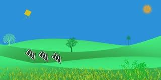 De niet Conventionele Groene Energie van de Energie Futuristische Duurzame Ontwikkeling Zonne royalty-vrije illustratie