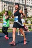 De niet geïdentificeerde marathonagent concurreert Stock Fotografie