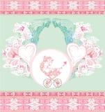 De nieuwe Aankondiging van het Meisje van de Baby Royalty-vrije Stock Afbeelding