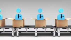 De nieuwe animatie van de werknemerstransportband royalty-vrije illustratie