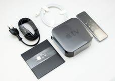 De nieuwe Apple-media die van TV speler stromen microconsole Stock Foto's