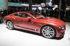 De nieuwe auto van Bentley Continental GT van 2018 Stock Afbeeldingen
