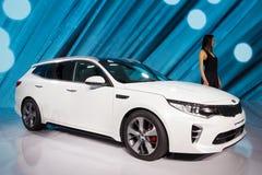 De nieuwe auto van Kia Optima SportsWagon Stock Afbeelding