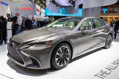 De nieuwe auto van Lexus LS 500 van 2018 Royalty-vrije Stock Foto