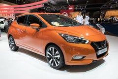 De nieuwe auto van Nissan Micra van 2017 Stock Afbeeldingen