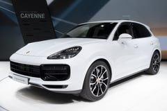 De nieuwe auto van Porsche Cayenne SUV Stock Foto's