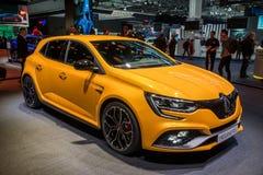 De nieuwe 2018 auto van Renault Megane RS Stock Foto