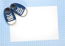 De nieuwe babyaankondiging of nodigt uit Royalty-vrije Stock Afbeeldingen