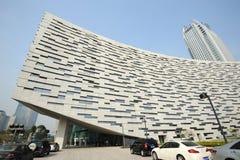 De Nieuwe Bibliotheek van Guangzhou stock foto's
