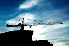 De nieuwe bouw in aanbouw royalty-vrije stock afbeelding