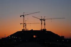 De nieuwe bouw is in de ochtend in Astana Royalty-vrije Stock Fotografie