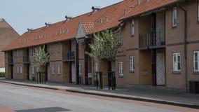 De nieuwe bouw in Norregade in Meer oneven Stock Foto's