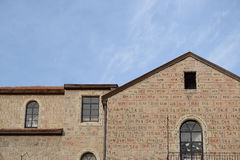 De nieuwe bouw van de oude stenen Royalty-vrije Stock Foto