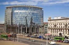 De nieuwe bouw van de Witrussische Universiteit van de Staat van Internationale Relaties op 6 Juni, 2013 Royalty-vrije Stock Foto's