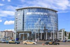 De nieuwe bouw van de Witrussische Universiteit van de Staat van Internationale Relaties op 6 Juni, 2013 Stock Foto