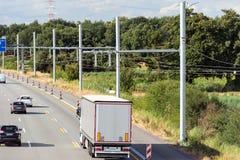 De nieuwe bouw van eHighway in Duitsland stock foto's