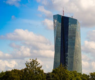 De nieuwe bouw van het Europese Centrale Bankhoofdkwartier, Frankfur Royalty-vrije Stock Foto