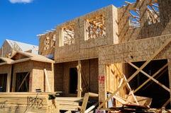 De nieuwe Bouw van Huizen Stock Foto's