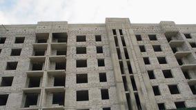 De nieuwe bouw, zonder vensters stock videobeelden