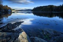 De nieuwe brug in Skodje, Noorwegen royalty-vrije stock foto's