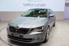 De nieuwe Buitengewone auto van Skoda van 2015 Stock Afbeelding