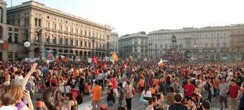 De nieuwe burgemeester van Milaan - van Giuliano Pisapia Stock Afbeeldingen