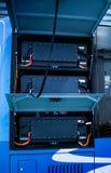 De nieuwe bus van de energie elektrische motor laadt royalty-vrije stock foto's