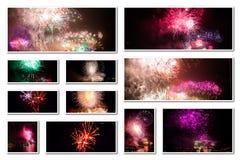 De nieuwe collage van de jaarvooravond Royalty-vrije Stock Foto