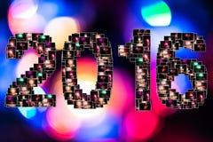 De nieuwe collage van de jaarvooravond Royalty-vrije Stock Afbeelding
