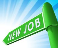 De nieuwe 3d Illustratie van Job Sign Displaying Employment Stock Illustratie