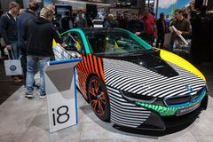 De nieuwe elektrische auto van BMW i8 Stock Afbeeldingen
