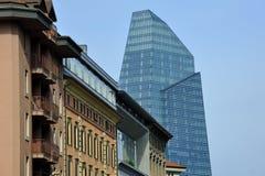 De nieuwe gebouwen van Milaan in het district van Porta Nuova Royalty-vrije Stock Fotografie