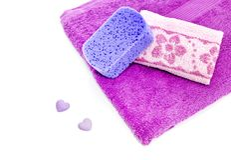 De nieuwe handdoeken zijn geen witte achtergrond royalty-vrije stock foto