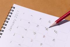 De nieuwe het jaarkalender van 2017 Stock Fotografie