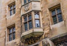 De nieuwe hofbouw, de rivier zijvoorgevel die met Brug van Sighs, Cambridge, Engeland verbonden is royalty-vrije stock afbeelding
