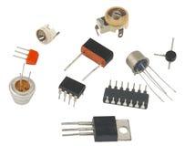 De nieuwe IC-radio-elementen stock fotografie