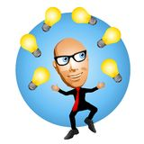 De Nieuwe Ideeën van de brainstorming vector illustratie