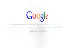 De nieuwe interface van Google Stock Afbeelding