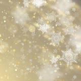 De nieuwe jaar en Kerstmisachtergrond van Defocused met het Knipperen van Sterren EPS 10 vector Royalty-vrije Stock Afbeelding
