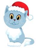 De nieuwe jaar-kat zit. Royalty-vrije Stock Afbeeldingen